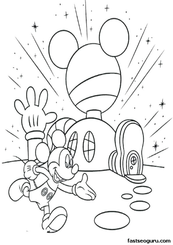 595x842 Mickey Printable Coloring Pages Mickey Mouse Birthday Coloring