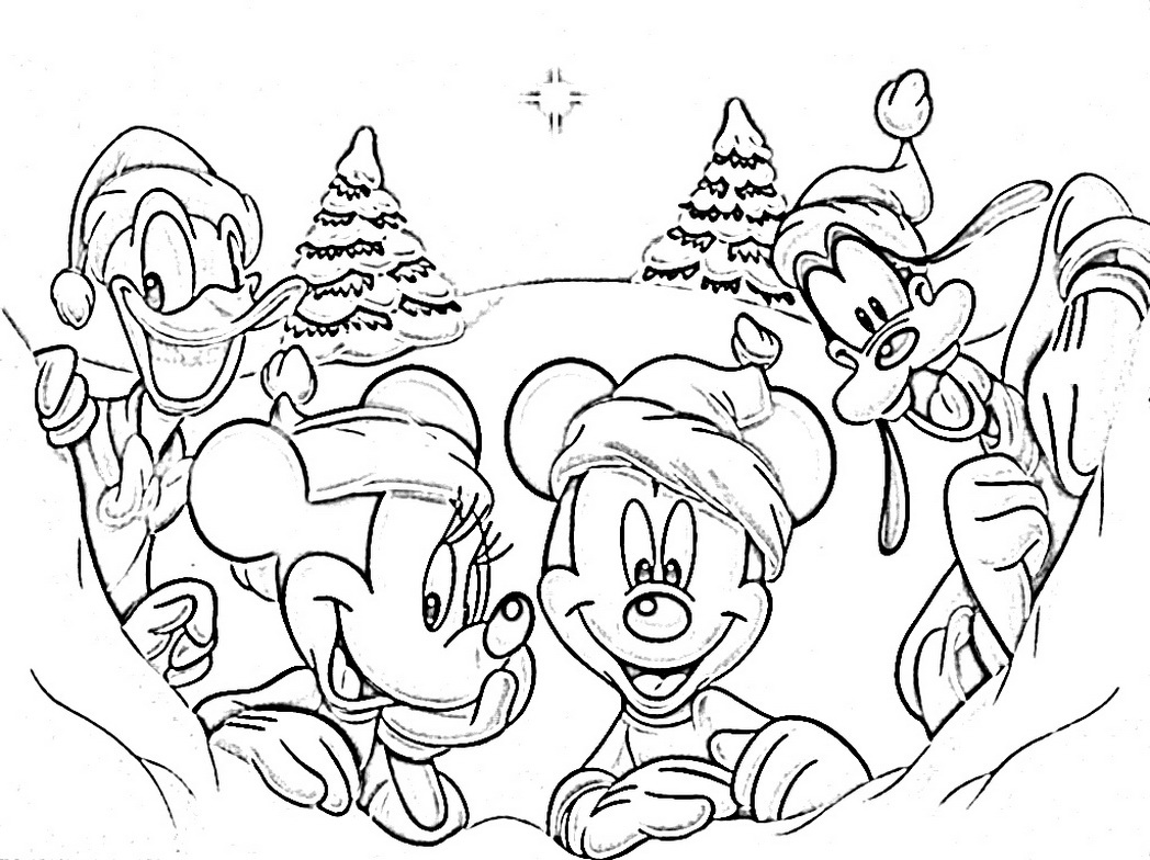1048x784 Mickey Mouse Clubhouse Christmas Coloring Pages