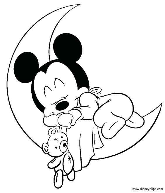 564x659 Mickey Mouse Baby Coloring Pages Image Result For Baby Mickey