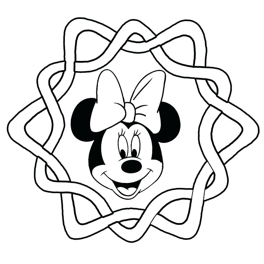 850x850 Minnie Mouse Face Coloring Pages Mickey Mouse Head Outline