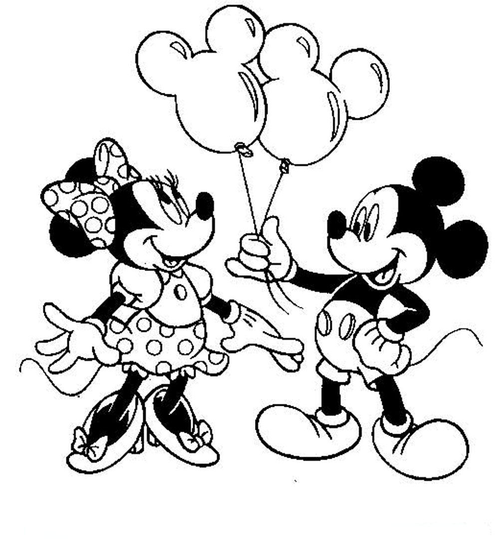 1000x1106 Free Mickey Mouse Coloring Pages Minnie On Baby Within