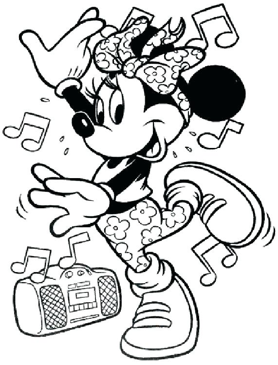 571x750 Free Printable Minnie Mouse Coloring Pages