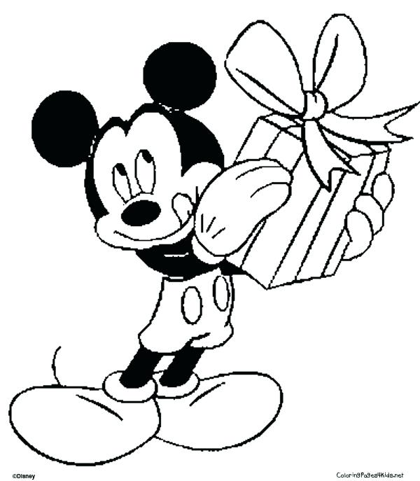 600x687 Mickey Mouse Coloring Pages Also Category Coloring Pages Mickey