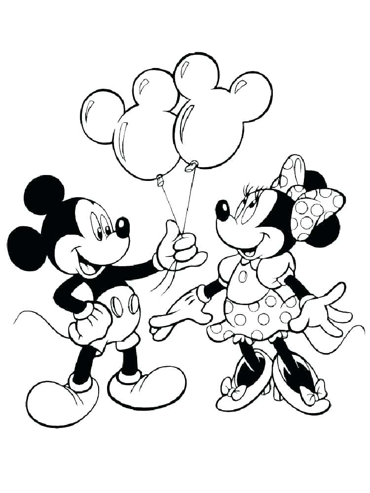750x1000 Mickey And Minnie Mouse Coloring Pages Free