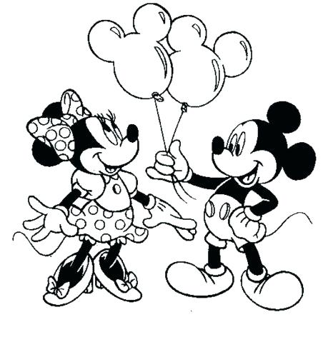 452x500 Cute Minnie Mouse Coloring Pages