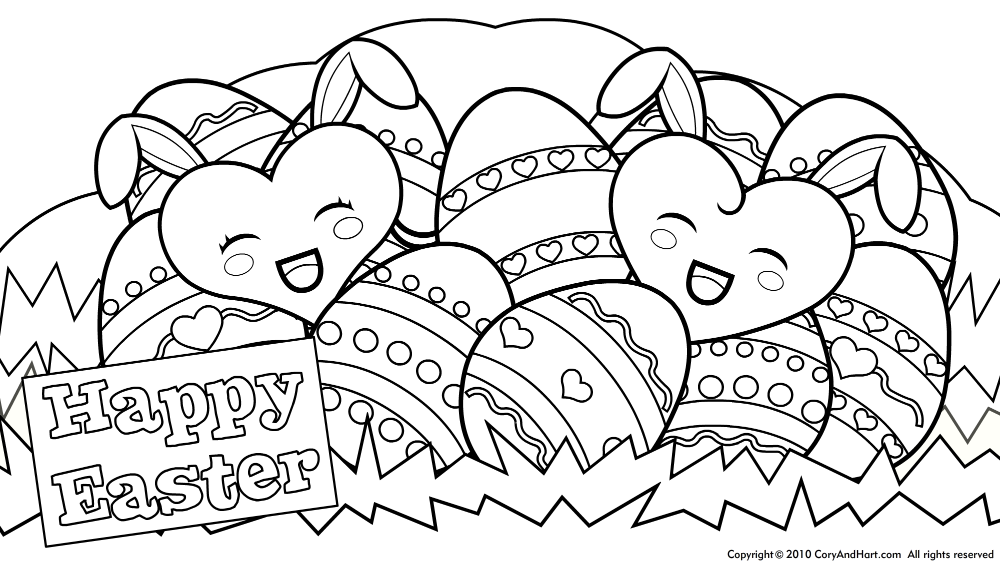 2000x1125 Easter Coloring Pages Easter Coloring Sheet