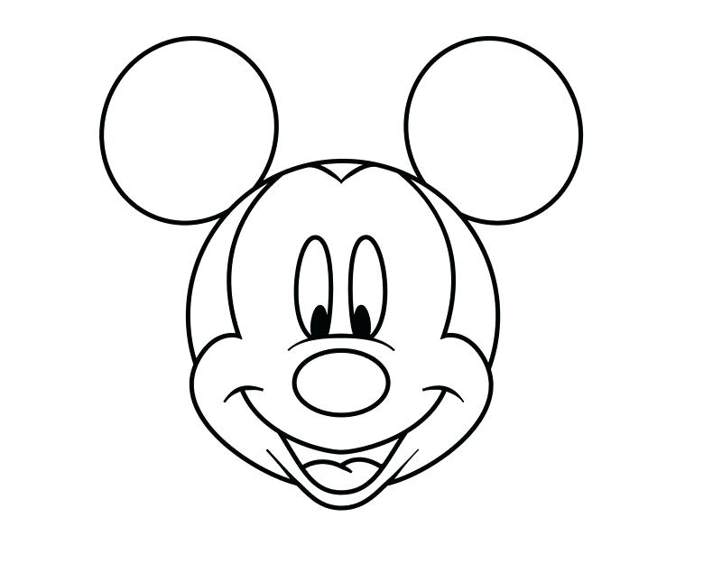 Mickey Mouse Face Coloring Pages