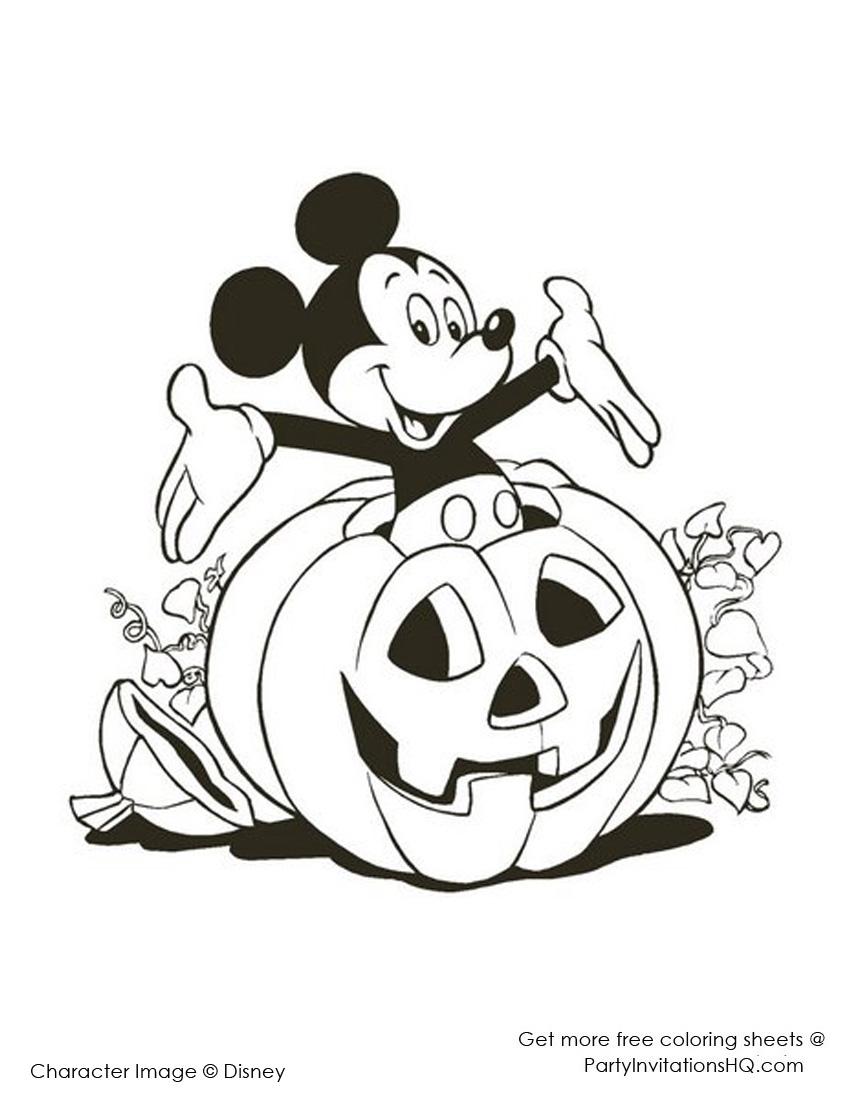 850x1100 Disney Halloween Coloring Pages