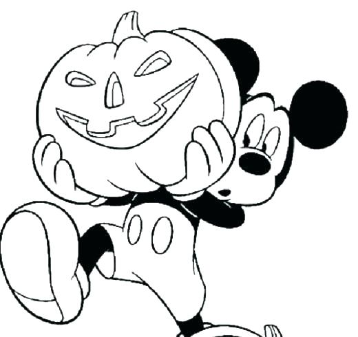 520x490 Mickey Halloween Coloring Pages