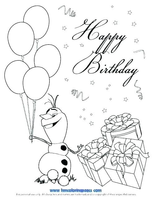 489x633 Happy Birthday Coloring Pages Awesome Mickey Mouse Bring Balloons