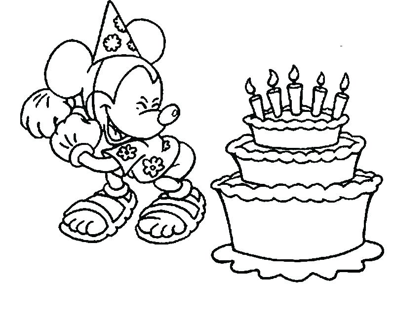 800x637 Happy Birthday Mickey Mouse Coloring Pages Coloring Pages