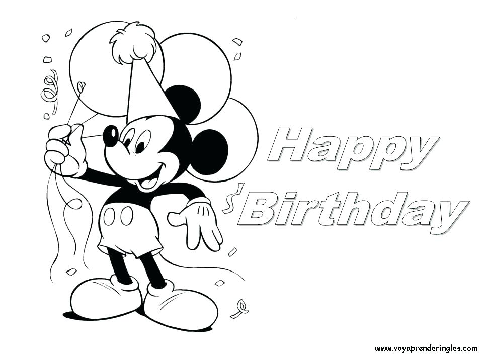 960x720 Mickey Coloring Page Happy Birthday Coloring Pages For Friends