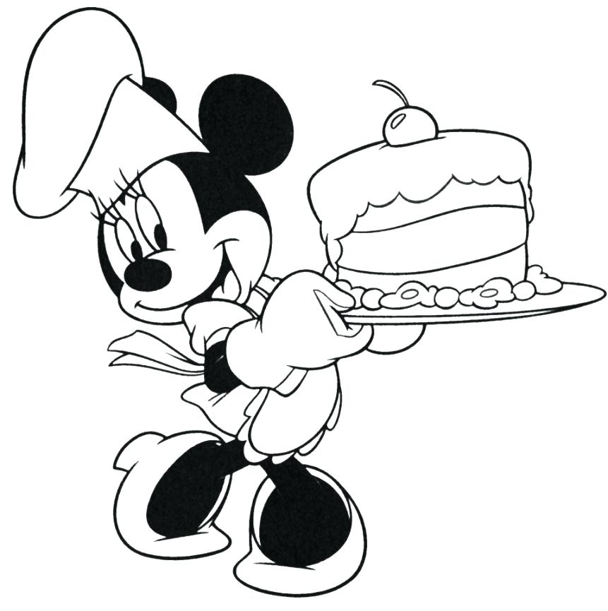 861x865 Mickey Mouse Happy Birthday Coloring Pages On His Amazing