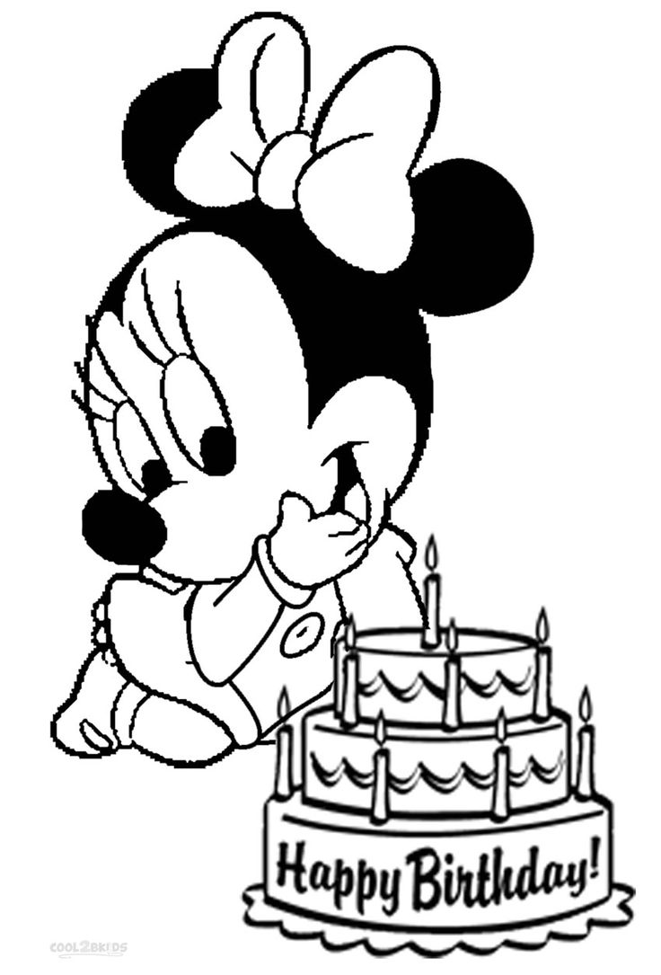 736x1085 Mickey Mouse Happy Birthday Coloring Pages On Mouse Coloring Pages