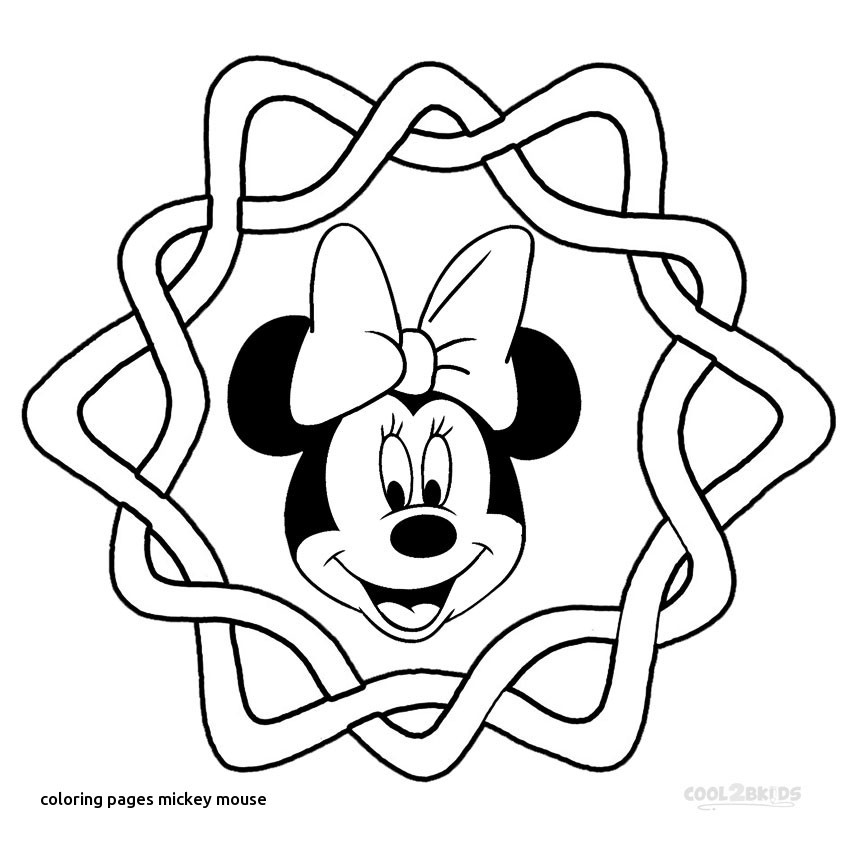 850x850 Elegant Collection Of Mickey Mouse Head Coloring Page Free