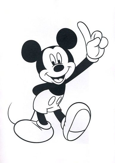 387x550 Coloring Page Of Mickey Mouse Head