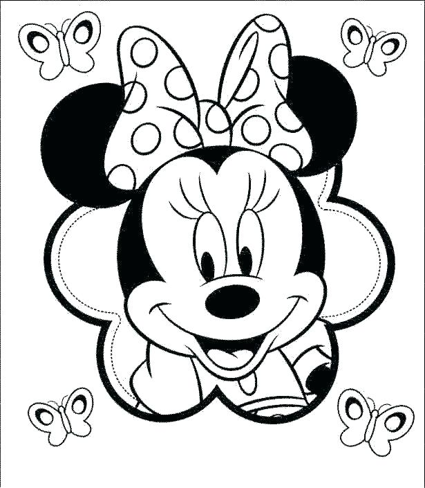 615x705 Minnie Coloring Pages To Print Deepart