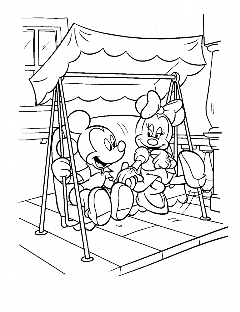 768x1000 Mickey And Minnie Mouse Valentine Coloring Pages Fresh New Micky