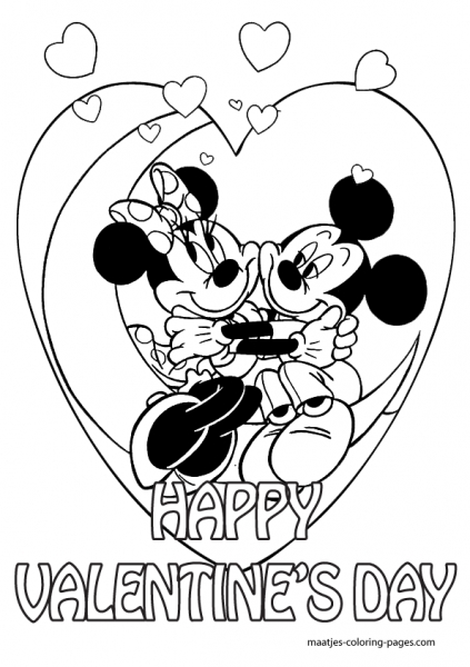 423x600 Minnie Mouse Valentines Coloring Pages