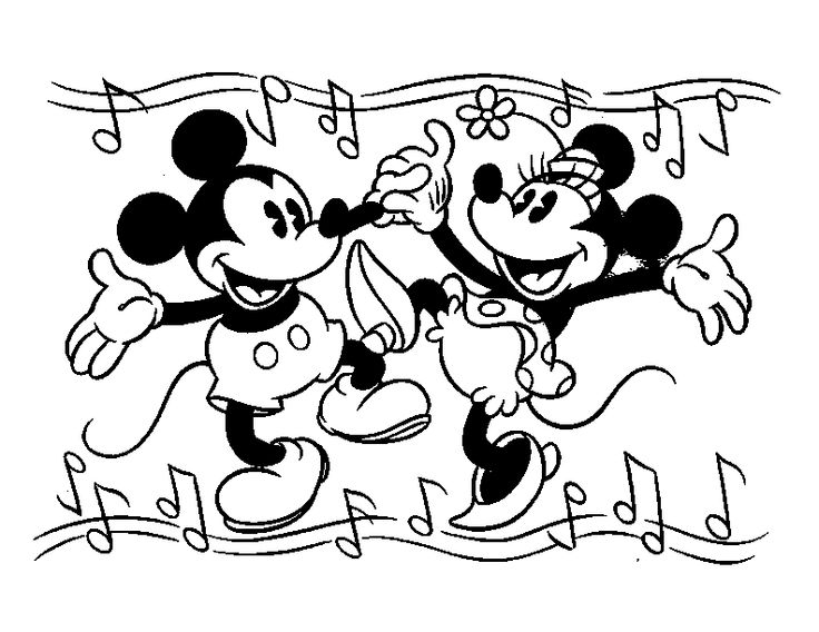 736x568 Best Mickey Mouse Minnie Coloring Pages Images