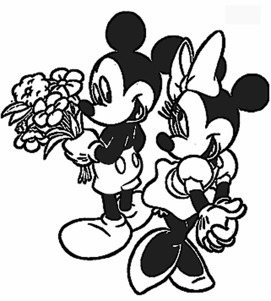 558x619 Disney Mickey And Minnie Valentine Coloring Pages Coloring Pages