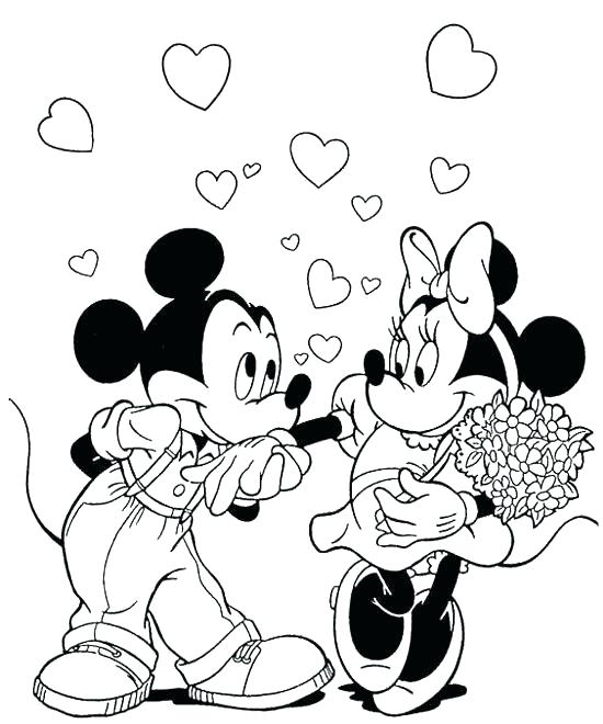 550x660 Disney Valentines Day Coloring Pages And Pertaining To Remodel