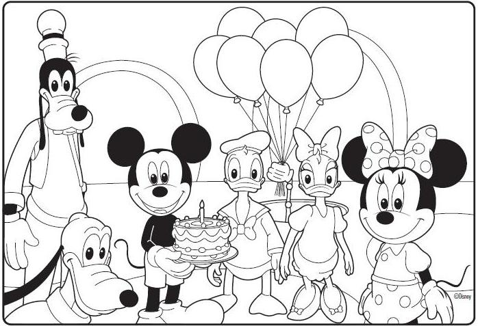 698x477 Mickey Mouse Clubhouse Coloring Pages Free Printable In Of Plan