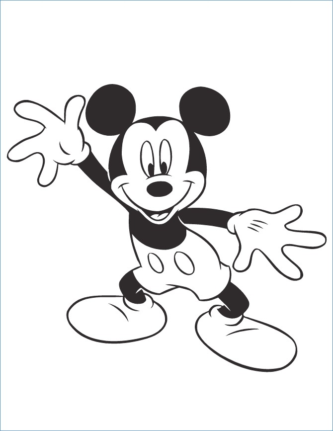 670x867 Mickey Mouse Soccer Coloring Pages