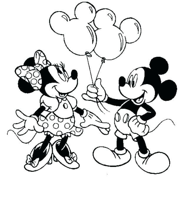 615x680 Minnie Mouse Coloring Books