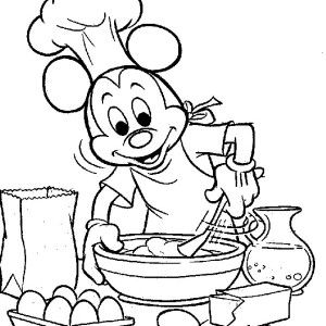 300x300 Mickey Mouse, Mickey Mouse Cooking Coloring Page Mickey Mouse