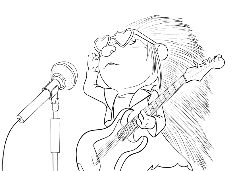 820x600 Sing Movie Coloring Pages
