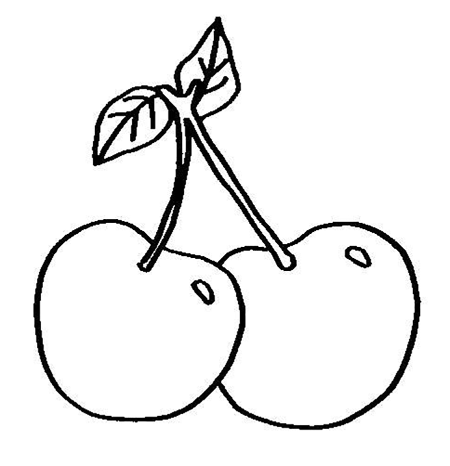 900x933 Small Cherry Fruit Sweet Fruits Coloring Pages