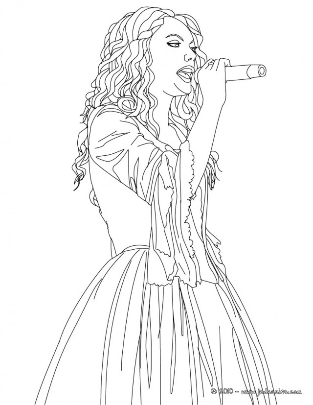 640x827 Taylor Swift Coloring Pages