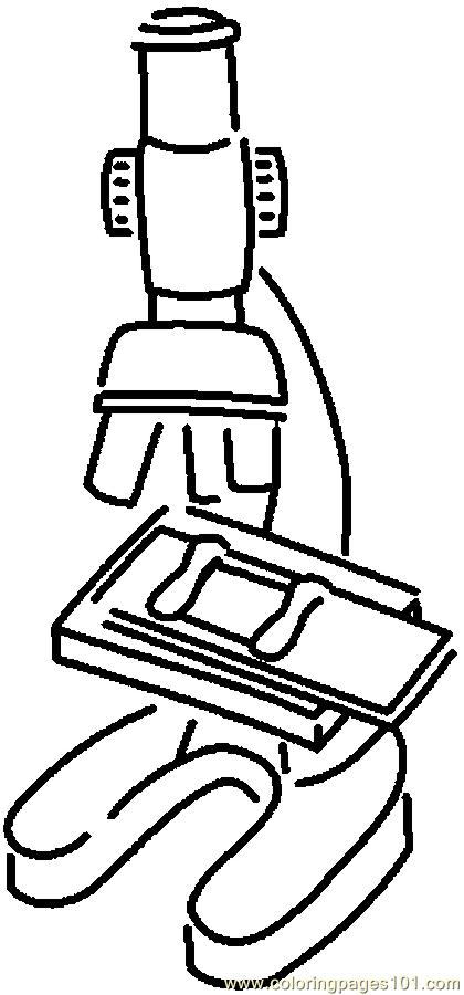 420x900 Microscope Coloring Page