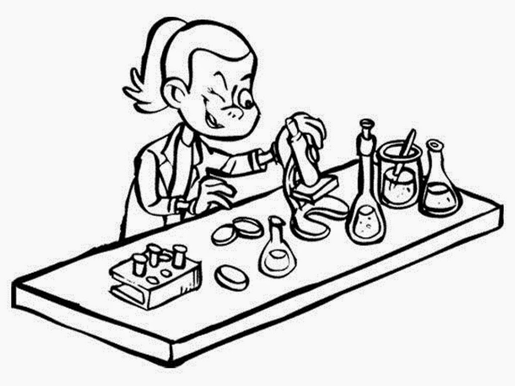 Microscope Coloring Page At Getdrawings Com Free For