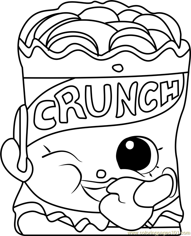 650x800 Crispy Chip Shopkins Coloring Page