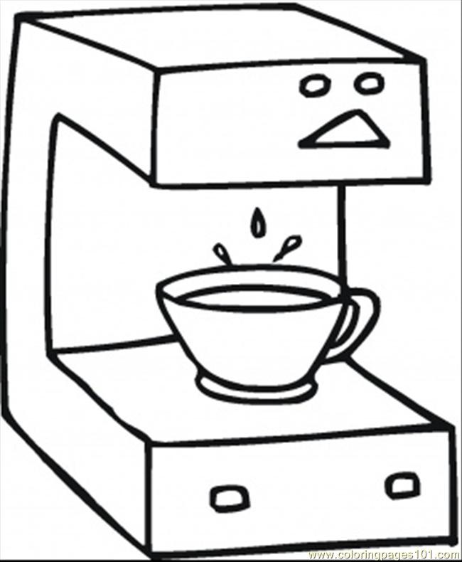 650x790 Fresh Coffee Coloring Page