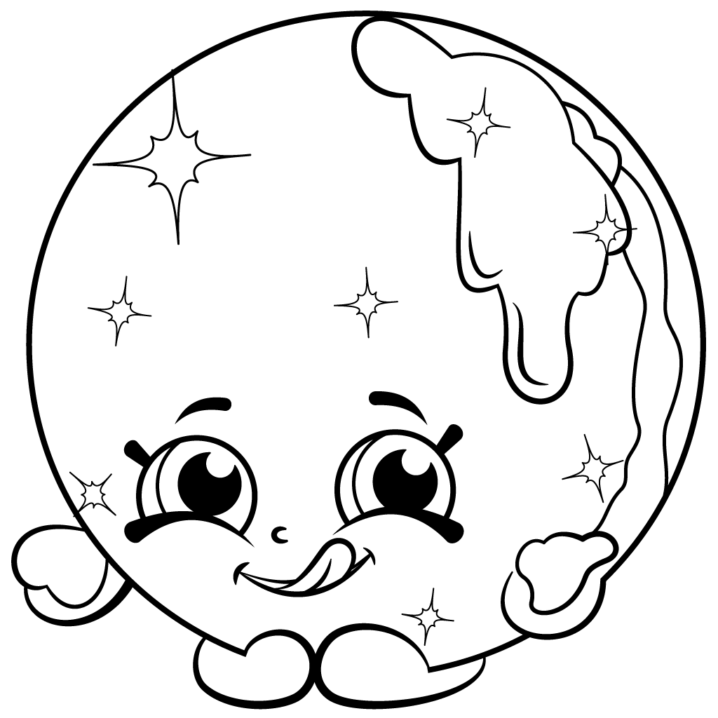 1024x1024 Limited Edition Shopkins Coloring Page Donna Donut