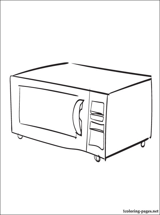 560x750 Microwave Oven Coloring Page Coloring Pages