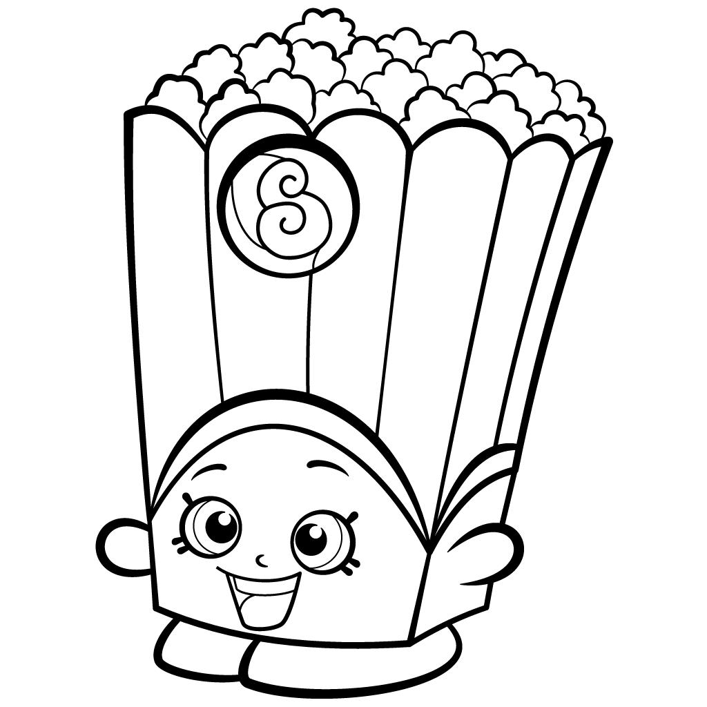 1024x1024 Popcorn Box Poppy Corn Coloring Page Shopkins