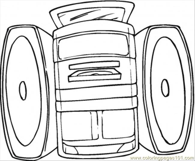 650x536 Sound System Coloring Page