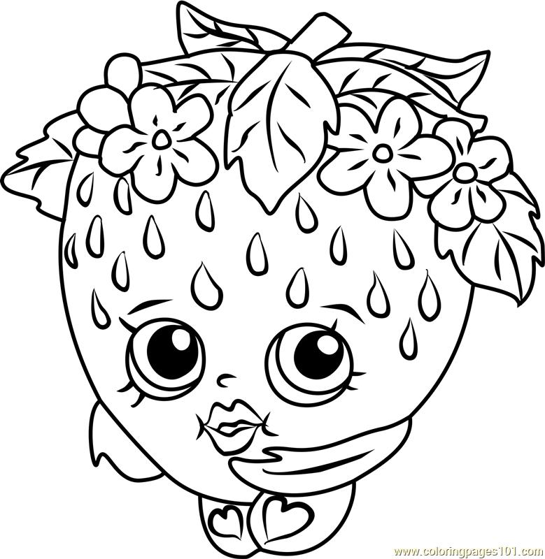 779x800 Strawberry Kiss Shopkins Coloring Page