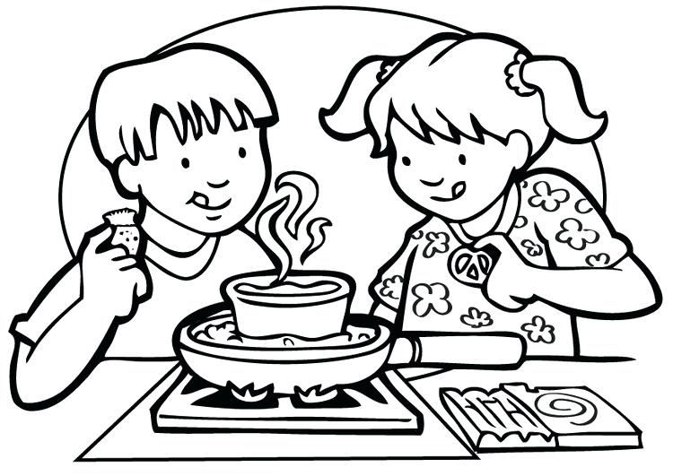 750x531 Coloring Page Cooking Coloring Page Cooking Free Printable Cooking