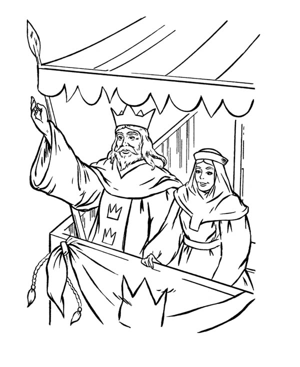600x734 Kings Greeting People In Middle Ages Coloring Page Color Luna