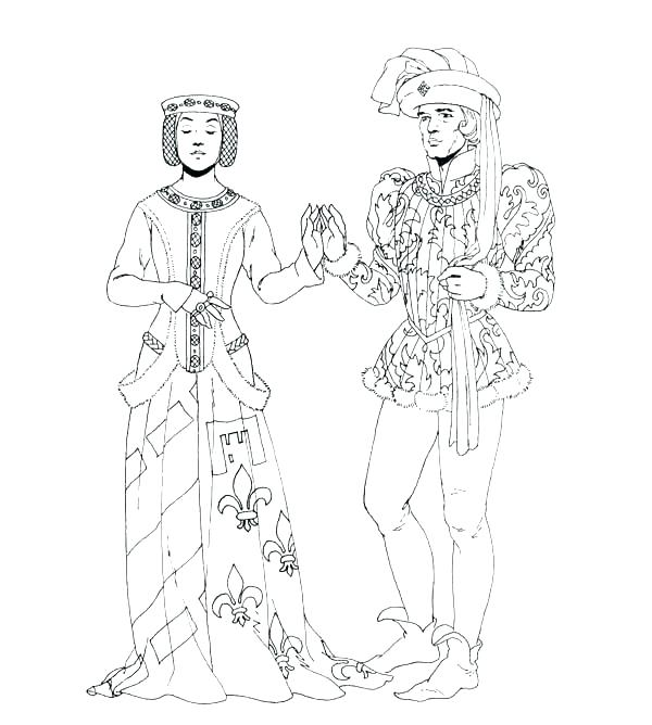 600x668 Middle Ages Coloring Pages Medieval Coloring Pages Middle Ages