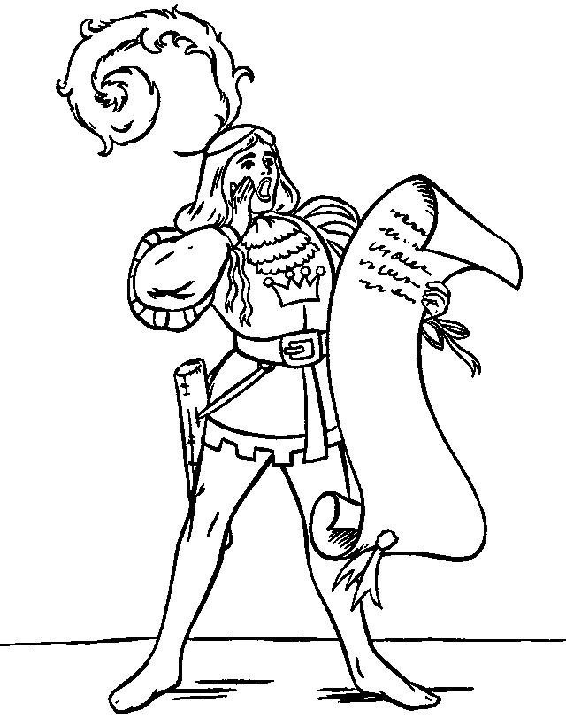 640x820 Middle Ages Coloring Page
