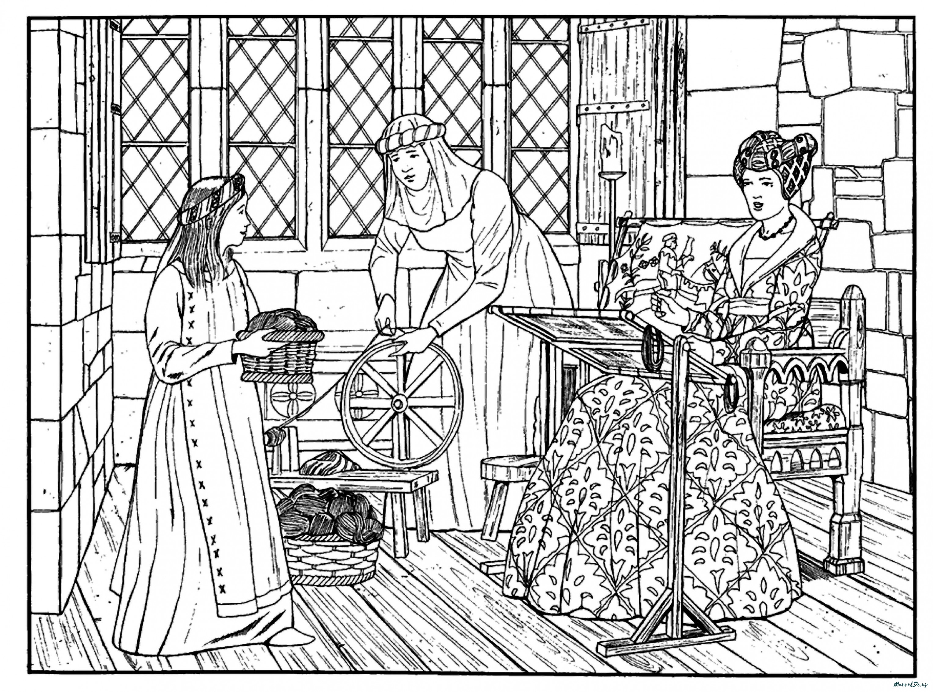3055x2267 Perfect Medieval Times Coloring Pages Printabl