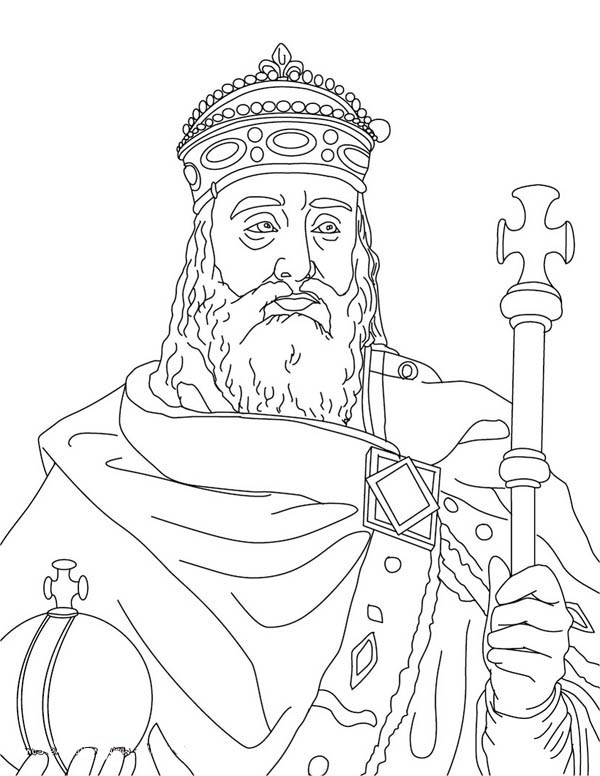 600x776 Charlemagne Coloring Pages Middle Ages, Charlemagne In Middle