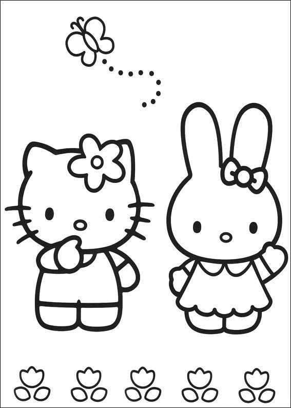 567x794 Friendship Coloring Pages Friendship, Hello Kitty And Kitty