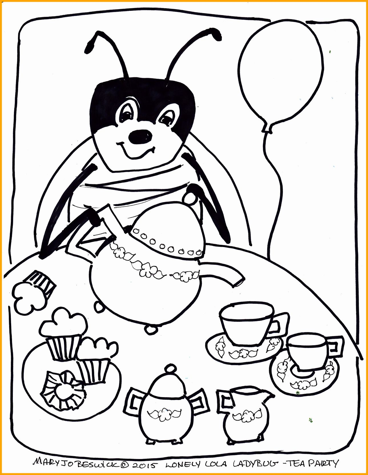 1289x1665 Tea Party Coloring Pages